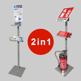 Piantana dispenser gel no touch 2in1